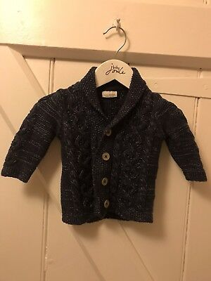 Next Baby Boys Knitted Navy Blue Cardigan 3-6 Months