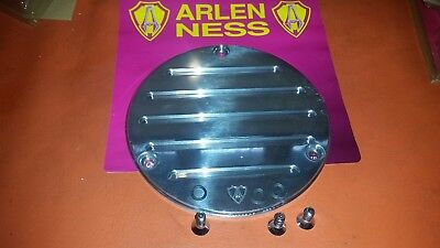 Harley Arlen Ness 3 Hole Slotted Derby Cover Polished