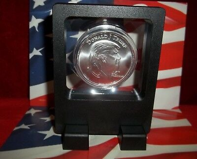 1 Donald Trump 45th President of the USA: 1 oz .999 Solid Silver Art-Coin & Case