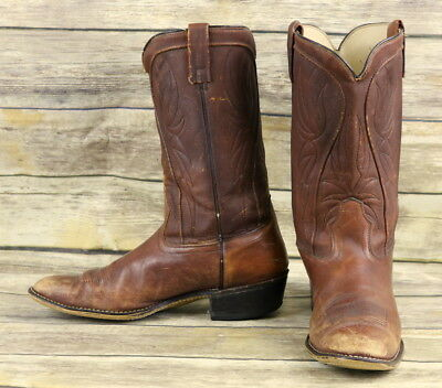 fe3374e655b Acme Cowboy Boots Brown Mens 12 B Narrow Western Rockabilly Vintage Shoes  USA