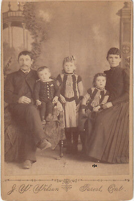 """Victorian Family""  Forest, Ontario J.W. Wilson Photographer Vintage Photograph"