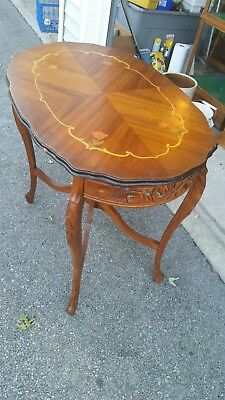 Antique Inlaid Floral Occasional Table Satinwood? Beautiful