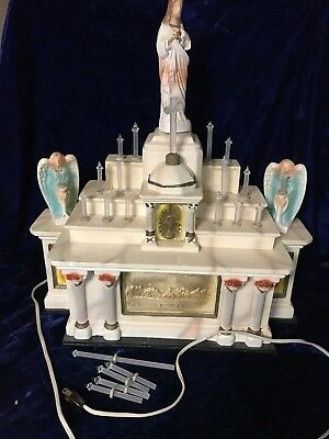 Vintage Noma Electric Corp Religious Alter Music Box Light IOB