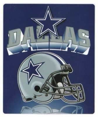 "Dallas Cowboys Fleece Blanket Throw 50 X 60 ""Mirror"" Northwest Licensed NFL"