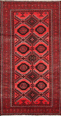 Super Deal Stunning Geometric 4x7 Wool Balouch Afghan Oriental Area Rug Carpet