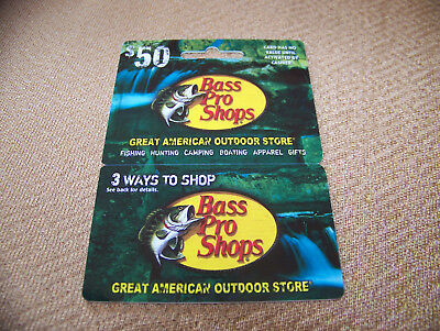 $50 BASS PRO SHOPS Gift Card - Free Tracked Shipping