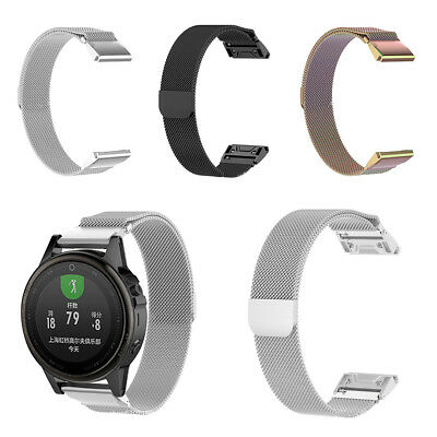 Stainless Steel Magnetic Replacement Watch Band For Garmin Fenix 5/Fenix5X/3 HR