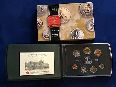 1999 Canada 7 Coin Specimen set with Box and COA