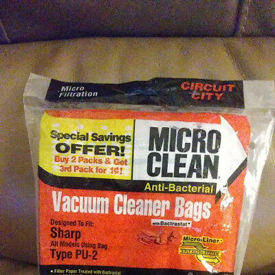 Sharp Vacuum Cleaner Bags Upright Type PU-2 Twin Ply Micro Liner