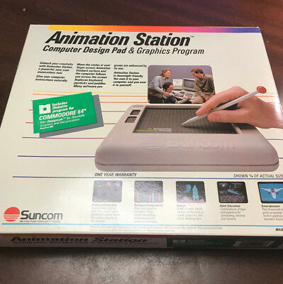 Animation Station Commodore 64 C64 Tablet Pad with Pen Boxed + Disk + Manual!