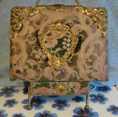 Antique Victorian Photo Album With Stand And Drawer