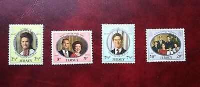 BUCK25 - JERSEY MH Stamps Coll. lot * Full Set  * SC# 73-76 * Royal Anniv. Queen