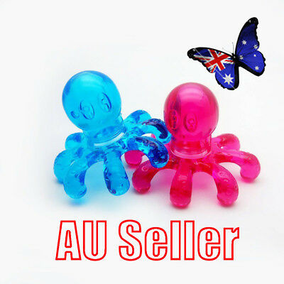 Handheld Stress Pain Relief Head Back Scalp Octopus Massager Massage Tool NW