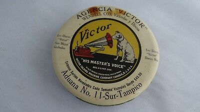 Rare Antique Victor Phonograph Advertising Record Cleaner Spanish Market