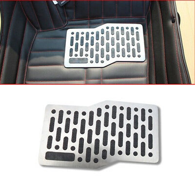 Stainless Car Floor Carpet Mats Patch Heel Plate Foot Rest Pedal Pad Non-slip