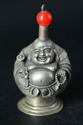 Collection Tibetan Silver Carved *buddha* Snuff Bottle