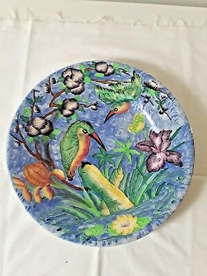 MALING 'CHARGER' PLATE   KINGFISHER DESIGN # 6307  1930s