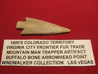 buffalo Bone arrowhead from Virginia Ciy (now known as Tin Cup, Colorado)