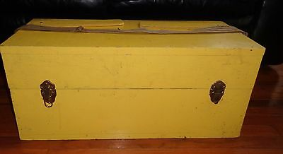 Hand Made Wood  Tool Chest Crate Storage Box with Lid Garden Decor Planter