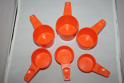 Tupperware Set Of67 Orange Measuring Cups Only Missing 1/8 Cup