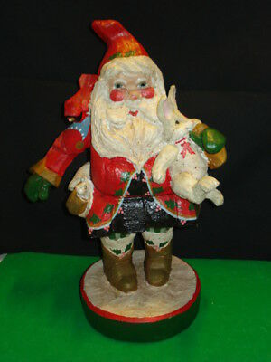 House of Hatten 1992 Santa with Bunny Figure