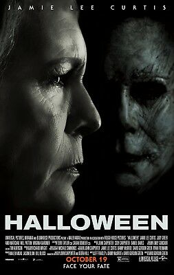 Halloween Jamie Lee Face To Face 11X17 Mini Movie Poster Collectible