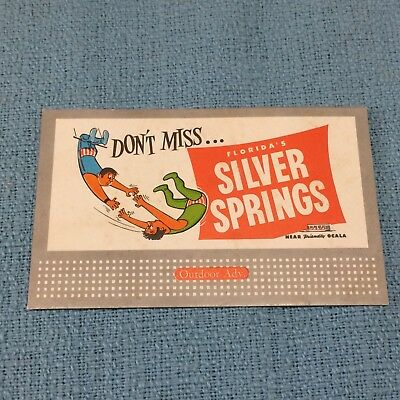 Vintage SILVER SPRINGS Florida Advertising Ink Blotter~Acrobats/Trapeze Unused