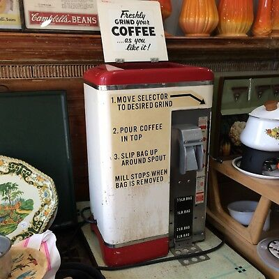 VTG Grindmaster Model 500 Commercial Coffee Grinder A&P Grocery Store Working