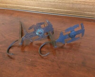 Antique Wrought Iron Betty Lamp Spikes AAFA