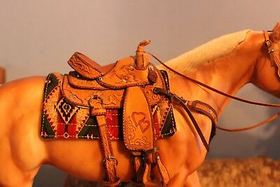 Breyer/Peter Stone Horse Aztec Southwest Western Cutout Saddle pad~ONLY