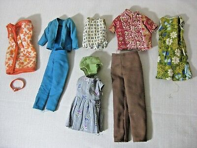 Vintage Barbie Clothes Lot 1960S Retro Doll Outfits Mattel Hand Made 10 Pc