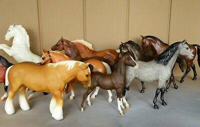 Vintage Breyer Horses Lot Of 10 - All Traditional Scale - SR Shire + Many More!