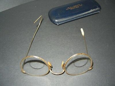 1/10th 12K GF IMPERIAL EYEGLASSES SPECTACLES FUL-VIEW ORNATE WIRE FRAME W/ LENS