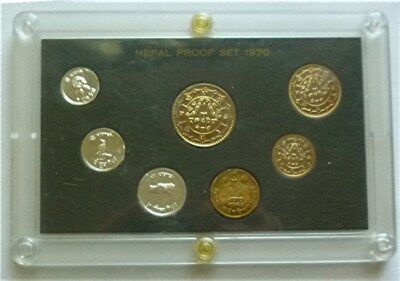 1970 ( Vs2027 ) Nepal - Official Proof Set (7) - Us Mint - Rare High Quality