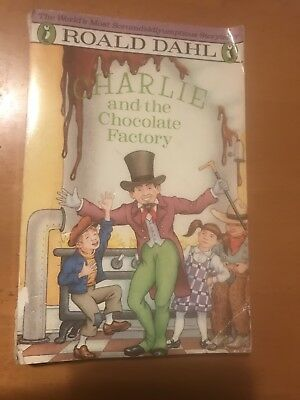 Roald Dahl Charlie and the Chocolate Factory 1988 Print Vintage Book
