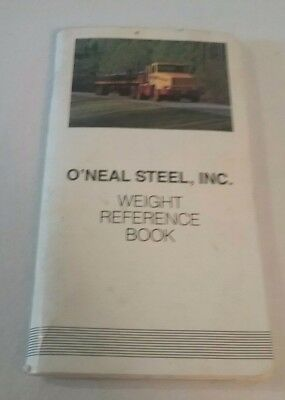 Vintage O'neal Steel Weight Reference Book