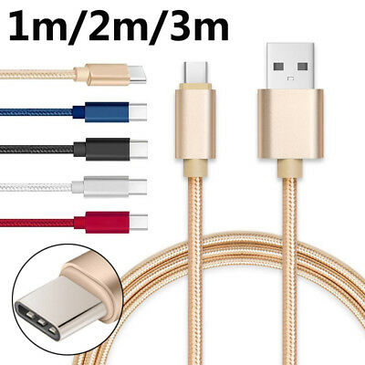 1PC Hot Long Braided USB Quick Charger Data Charging Cable For Type C Android