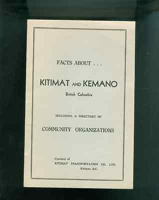 1956 Booklet Facts About Kitimat & Kemano British Columbia Canada