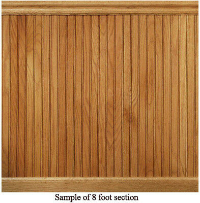 Wainscot Paneling Red Solid Oak Tongue And Groove House of Fara 8 lin. ft.