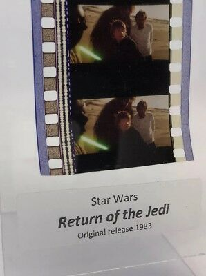 Authentic Star Wars Return Of The Jedi Film 5-Cells LUKE/HAN/CHEWY w/ LIGHTSABER
