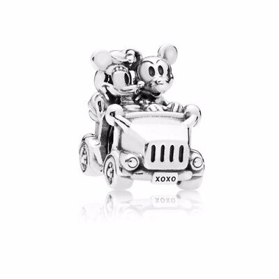 New Authentic Pandora Charm Disney, Mickey & Minnie Vintage Car Charm 797174