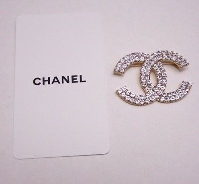 Large Silver / Gold Tone New VIP Gift Chanel Brooch Pin (Damaged)