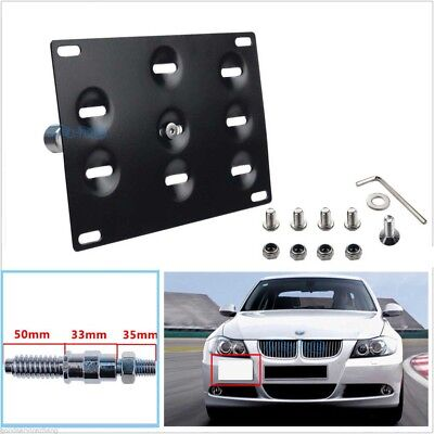 Front Bumper Hook License Plate Mounting Bracket Holder For BMW E92 E93 X5 X6
