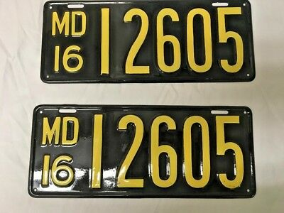 1916 Maryland License Plate