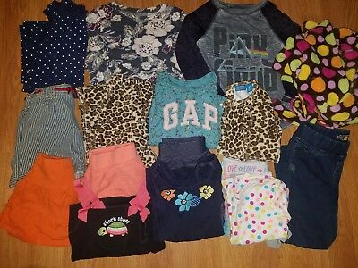 Girls Clothes/Outfits Lot of 16 Size 3T and 4T gap, gymboree, old navy, lucky