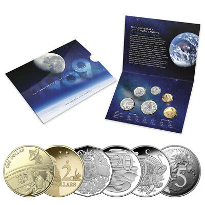 NEW RA Mint 50th Anniversary Moon Landing 2019 Uncir. Coin Set