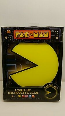 Pac Man Light Up Silhouette Sign Pacman