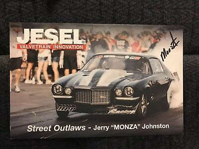 Street Outlaws Pro Charger Signed Promo Card 2018 PRI Autographed