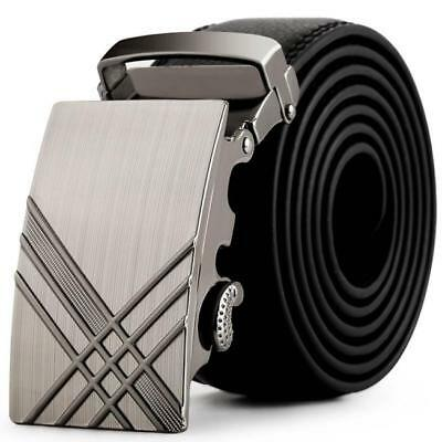 Hot Sold Mens Leather Automatic Buckle Belts Fashion Waist Strap Belt Waistband