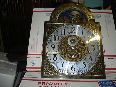 Vintage Hermle Clock face  grandfather clock face WOW